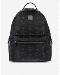 MCM Women's Black Stark Small Backpack