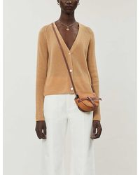 Vince Relaxed-fit Ribbed Cashmere Cardigan - Natural