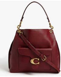 COACH Tabby Leather Hobo Bag - Red