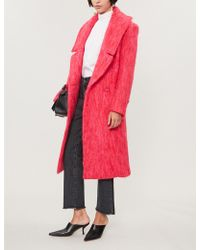 Paper London - Rainbow Check Wool-blend Coat - Lyst