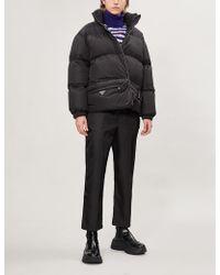 Prada Bum Bag Shell-down Puffer Coat - Black