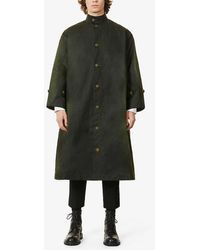 Toogood The Artist Abstract-print Waxed-cotton Coat - Multicolour