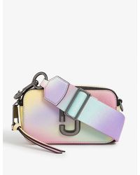 Marc Jacobs Snapshot Airbush-effect Leather Cross-body Bag - White