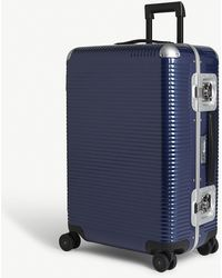 Fpm Fabbrica Pelletterie Milano Bank Light Spinner Suitcase - Blue