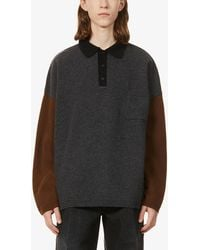Loewe Oversized Wool- And Cashmere-blend Polo Shirt - Multicolour