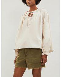 Free People Tomboy Linen-blend Shorts - Multicolour