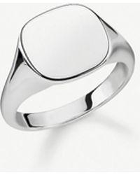 Thomas Sabo Rebel At Heart Sterling Silver Signet Ring - Metallic