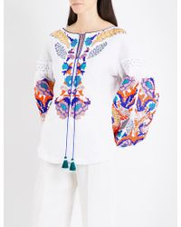 Yuliya Magdych | Harvest Embroidered Linen Blouse | Lyst