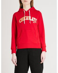 Chocoolate - College Logo-print Cotton-jersey Hoody - Lyst