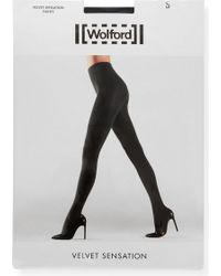 Wolford - Velvet Sensation Tights - Lyst