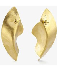 Rokus Demi Fula Large 22ct Gold-plated Brass Earrings - Metallic