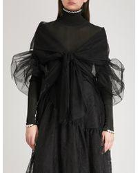 Simone Rocha Cropped Mesh Jacket - Black