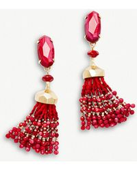 Kendra Scott - Dove 14ct Gold-plated Red Mother Of Pearl Tassel Earrings - Lyst