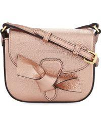Burberry - Metallic Leather Shoulder Bag - Lyst
