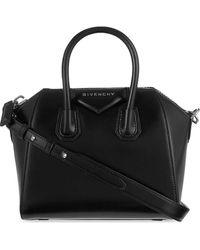 Givenchy Antigona Mini Leather Tote Bag - Black
