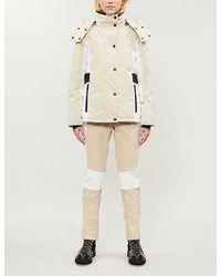 TOPSHOP stone Color Block Ski Jacket By Sno - Natural