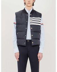 Thom Browne Striped-sleeve Regular-fit Cotton Shirt - Blue