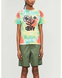 Obey Bloom Cotton-jersey T-shirt - Green