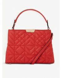 Dune Devangelina Quilted Faux-leather Tote - Red