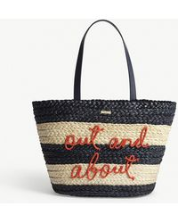 Kate Spade Out And About Straw Tote Bag - Black