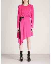 Mo&co. - Asymmetric Satin Dress - Lyst
