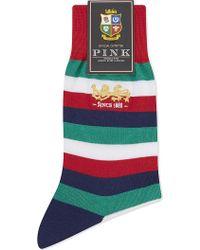 Thomas Pink - Lions Stamley Striped Cotton Socks - Lyst