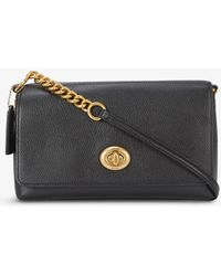 COACH Crosstown Leather Cross-body Bag - Black