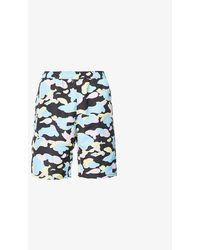 A Bathing Ape Multi Camo Camouflage-pattern Shell Shorts - Black