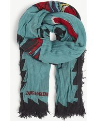 Zadig & Voltaire Maxy Patchwork Paradise Modal Scarf - Lyst