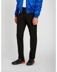 Maison Margiela - Pvc-trimmed Regular-fit Straight Cotton Trousers - Lyst