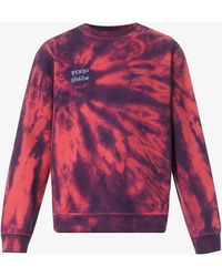 Stain Shade Upcycled Swoosh-embroidered Cotton-blend Sweatshirt