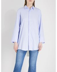 5cm | Crossover-back Striped Woven Shirt | Lyst