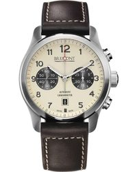 Bremont Alt1-ccr07 Stainless Steel And Leather Watch - Metallic