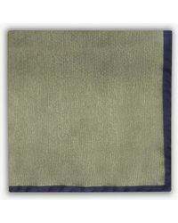 Oscar Jacobson - Plain Silk Pocket Square - Lyst