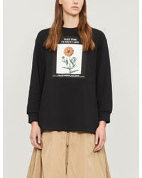 Izzue - Floral Box-print Cotton-blend Sweatshirt - Lyst