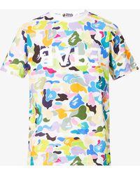 A Bathing Ape Bapeulti Graphic-print Cotton-jersey T-shirt - White