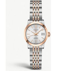 Longines - L2.320.5.72.7 Record Stainless Steel And Rose Gold-plated Watch - Lyst