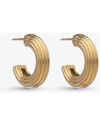 Rachel Jackson Chunky 22ct Gold-plated Sterling Silver Hoop Earrings - Metallic