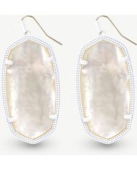 Kendra Scott - Danielle White-plated Brass And Ivory Mother-of-pearl Earrings - Lyst