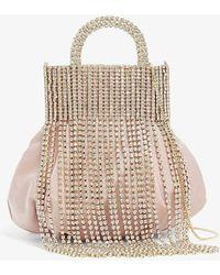 Rosantica Follie Crystal-embellished Silk Cross-body Bag - Pink