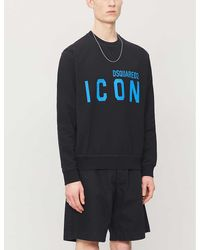 DSquared² Icon Cotton-jersey Sweatshirt - Blue