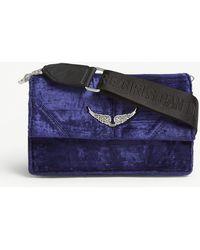 Zadig & Voltaire Lolita Leather Shoulder Bag - Blue