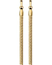 Links of London - Essentials 18ct Yellow-gold Vermeil Silk Row Earrings - Lyst