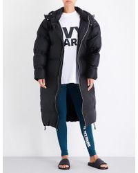 Ivy Park Longline Bonded Shell Puffer Coat - Black