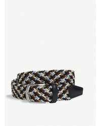 Andersons Multi-woven Elasticated Belt - Blue