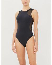 Stella McCartney Mesh-trimmed Swimsuit - Black