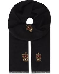 Janavi | Crown And Crest Cashmere Scarf | Lyst