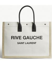 Saint Laurent - Noe Cabas Rive Gauche Canvas Tote - Lyst