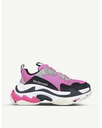Balenciaga - Triple S Low Top Leather Trainers - Lyst