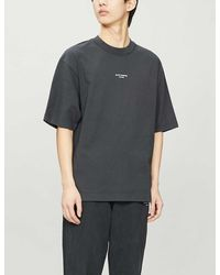 Acne Studios Reverse Logo-print Cotton-jersey T-shirt - Black